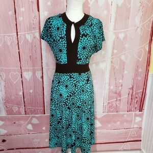 Jessica Howard Turquoise Floral Dress